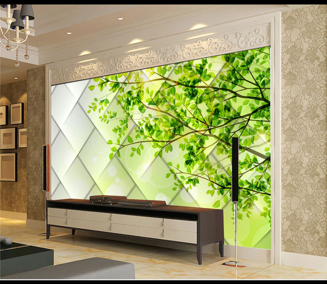 Modern and simple glass surface texture 3D TV backdrop green leaf 3D wallpaper murals living room study hatem hussny hassan study of atmospheric ozone variations from surface and satellite data