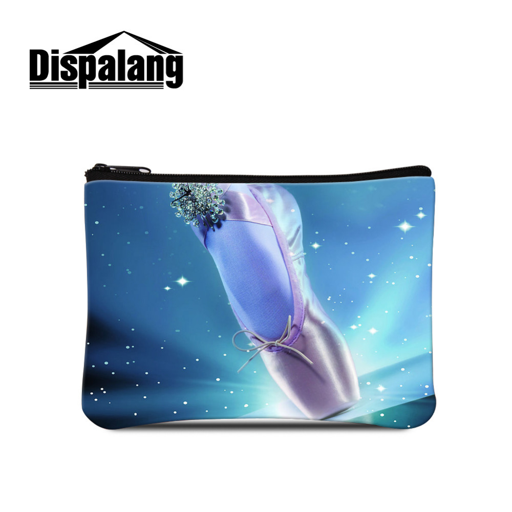 Dispalang Coin Purse Girls Small Wallet Change Purses Ballet  Shoes Print Money Bags Kids Pocket Wallets Key Mini Zipper Pouch купить