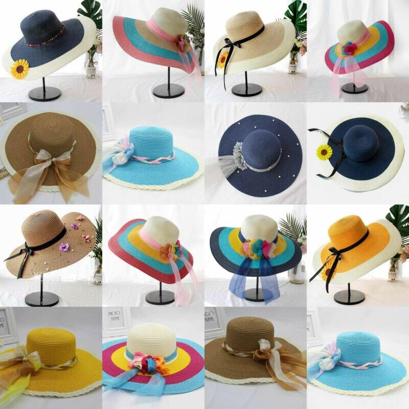 2019 Brand New Style Floppy Faltbare Sommer Damen Sun Beach Strohhut Wide Brim Womens Gardening Hot Sale Sun Hats