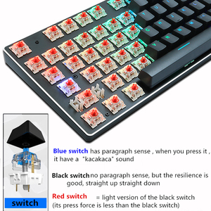 Image 5 - משחקים מכאני מקלדת usb wired תאורה אחורית אנטי ghosting 87 מפתח RGB רוסית כחול אדום מתג מקלדת עבור מחשב גיימר מחשב נייד