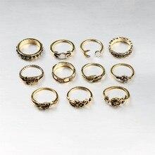 Antique ring 11pcs/Set Antique Gold Silver