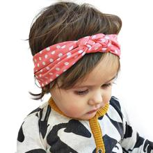 Dot Cross Children Hair Band Weave Twist Headband