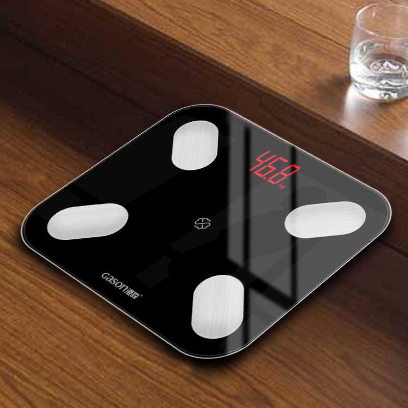 Gason S4 Tubuh Lemak Skala Lantai Ilmiah Smart Elektronik LED Digital Berat Kamar Mandi Keseimbangan Bluetooth Aplikasi Android atau IOS