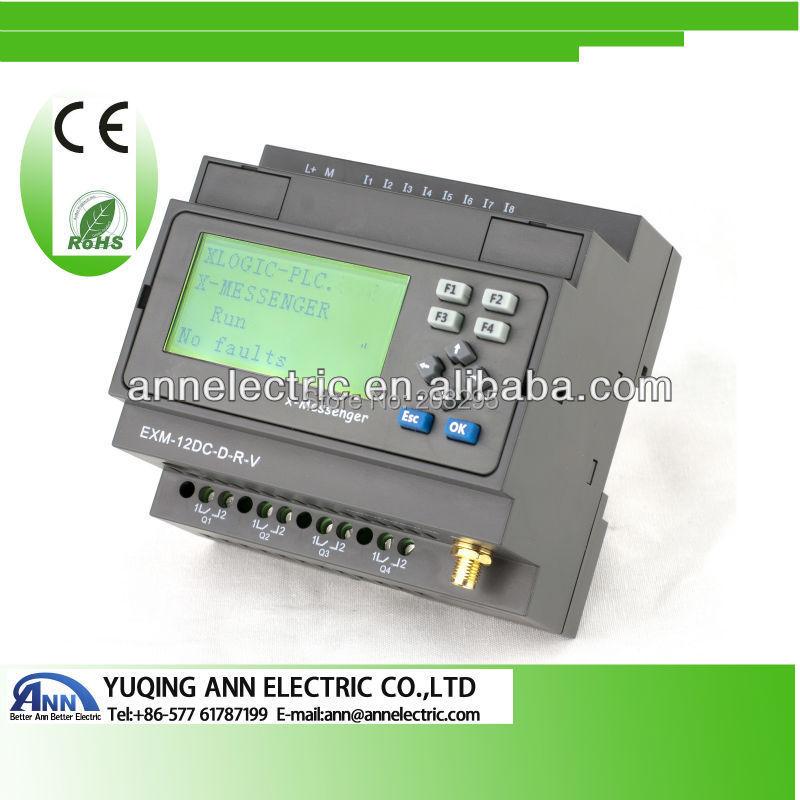 PLC  EXM-12DC-DA-R-HMI  with LCD,Programmable logic controller plc exm 12dc da r hmi with lcd programmable logic controller