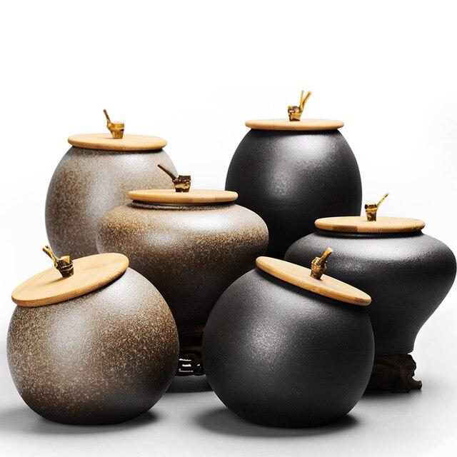 2018 Sealed Canister Jar Home Kitchen Coffee Sugar Tea Storage Bottles Jars Accessories Ceramic