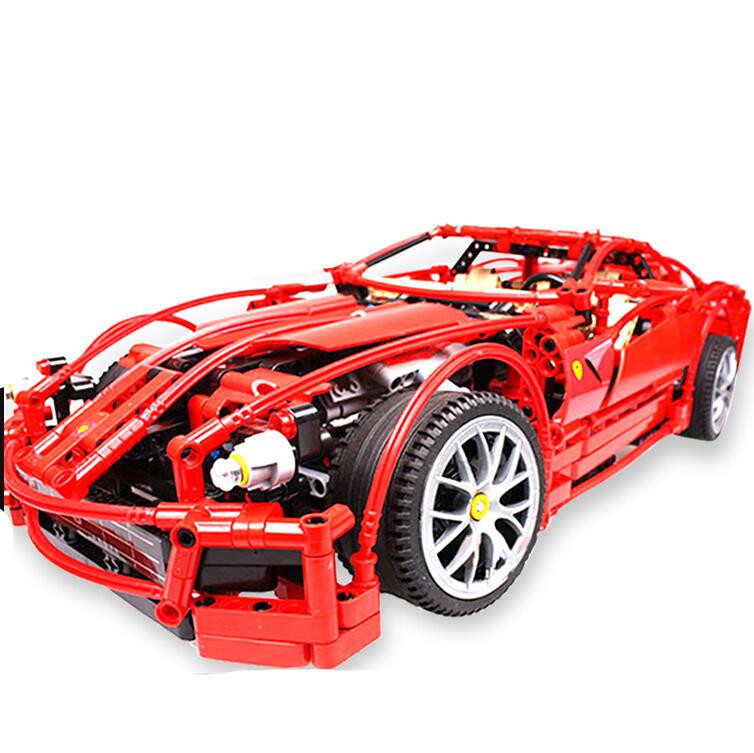 1322pcs Technical 599 1:10 Racing Car Game set Model Building Block Compatible with 8145 toys