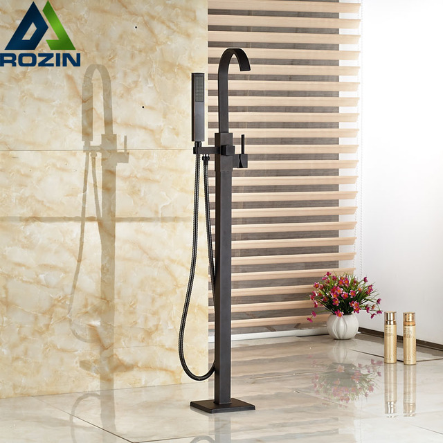 tub fillers for freestanding tubs. Modern Freestanding Bathtub Faucet Tub Filler Oil Rubbed Bronze Floor Mount  with Handshower Mixer Taps