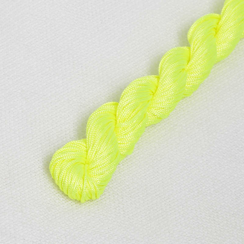 24 metros/lote chino nudo Cordón de macramé pulsera de alambre hilo de 1mm de diámetro, para DIY collar pulsera trenzada cuerda