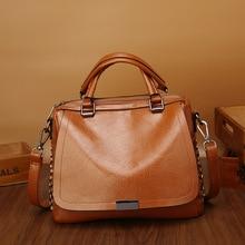 купить Women leather handbag 2019 new Litchi pattern handbag fashion bag soft leather simple one shoulder crossbody bag Ladies tote bag по цене 1933.75 рублей