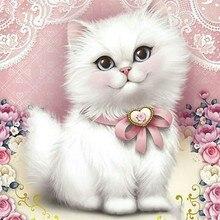 Кошка полный квадрат/круглые камни мультфильм 5d алмазная картина Алмазная вышивка Стразы картина, Алмазная мозаика Dimond рукоделие