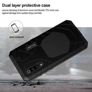 Image 3 - ForXiaomi9 9 T твердый корпус для телефона Алюминиевый металлический протектор экрана из закаленного стекла полное покрытие сверхмощный защитный чехол