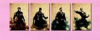 4 Panel Pictures Set The Avengers Iron Man Thor Captain America Spiderman Acrylic Paintings Marvel Comics Superhero Oil Painting
