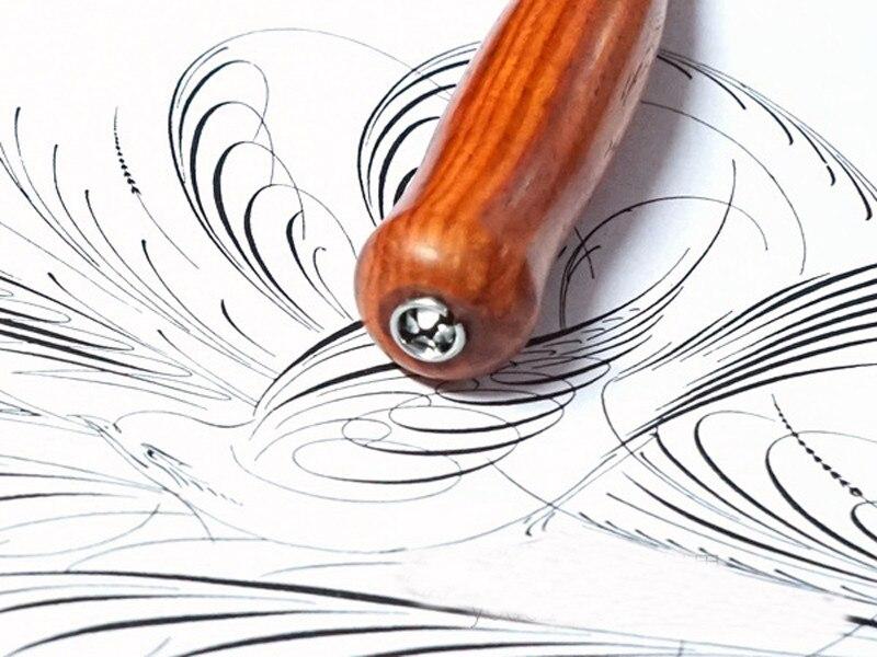Suporte da Pena Handmade Do Vintage Madeira Maciça Europeia Dip Pen