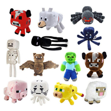 Minecraft Plush Toys 15 Styles 16-26cm Minecraft Creeper Enderman Wolf Steve Zombie Spider Sketelon Plush Stuffed Toys for Kids(China)