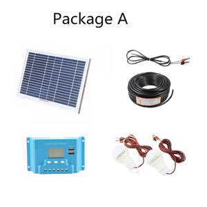 Image 2 - 10W home Solar System 18V solar panel with solar controller cable DIY kit