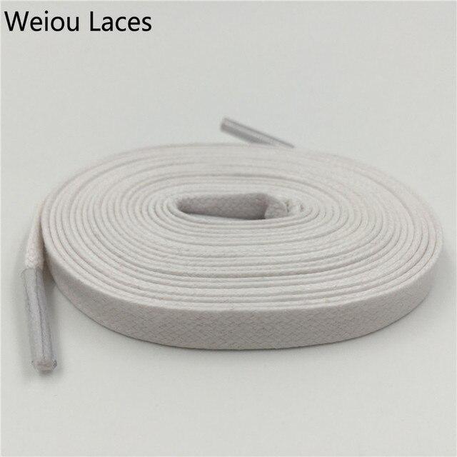 Weiou Hot 8mm Larghezza Piatto Lacci per le scarpe Lacci Delle Scarpe Largo  Cotone Colorato Cerato 0b83c7078fc