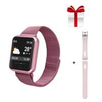 Smart watch P68+belt/set IP68 fitness tracker Smart Watch activity tracker heart rate monitor blood pressure PK S226 B57 IWO5 Y6