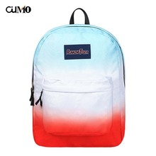 Ou Mo brand Gradient Color laptop backpack feminina Women Boys/Girls school Bag teenagers computer man Backpack