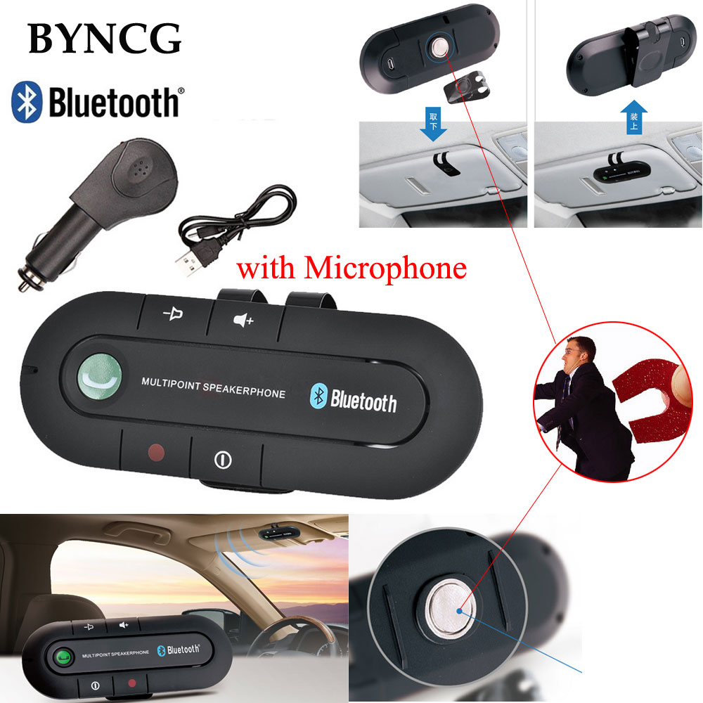 Autoradio Auto Senza Fili Bluetooth 4.1 Kit Vivavoce Bass Stereo A2DP Audio Music Receiver Adapter Vivavoce con Microfono