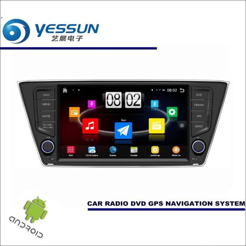 Lecteur multimédia Android de voiture pour Skoda Fabia Mk3 2014 ~ 2017 Radio stéréo GPS Navigation Navi (pas de CD DVD) 8