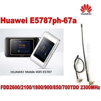 Huawei 300mbps 4g lte router Cat6 WiFi Router with SIM card slot E5787ph 67a hotspot plus 2pcs 4g antenna