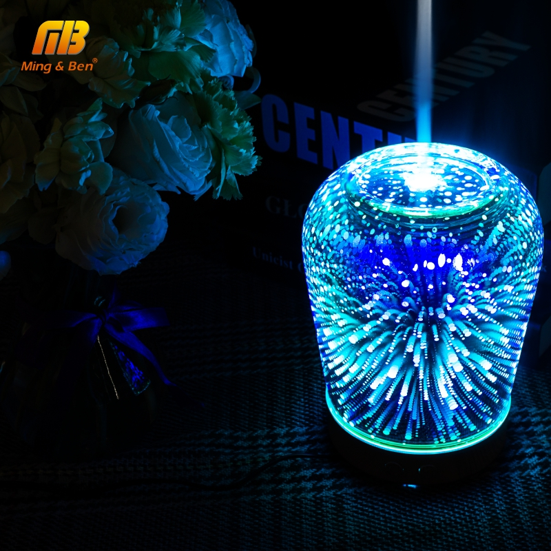 LED E27 Colorful Edison Bulbs 3D Night Light 7 Color Change Air Humidifier Aroma Oil Diffuser Lampada For Novelty Holiday Lights