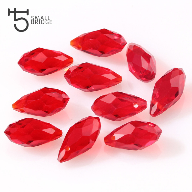 Austrian Clear Teardrop Crystal Beads for Jewelry Making Earrings Women Diy Perles Briolette Faceted Glass Beads Wholesale 002