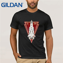 Gildan Brand Russia CCCP Energiya Buran V01 Space Exploration Program T-Shirt Summer Mens Short Sleeve