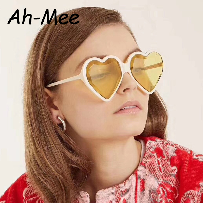 2019 Heart Sunglasses Women Brand Designer Hearts Shaped Sun Glasses Retro Love Glasses Ladies Gradient Sunglass UV400 Oculos