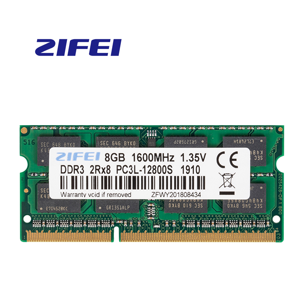 ZiFei ram DDR3L 2GB 4GB 8GB 1066HMz 1333HMz 1600MHz 204Pin SO DIMM module Notebook memory for