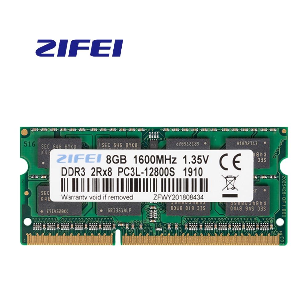 ZiFei ram DDR3L 2GB 4GB GB 1066HMz 8 1333HMz 1600MHz 204Pin 1.35V SO-DIMM módulo de memória Notebook para Laptop