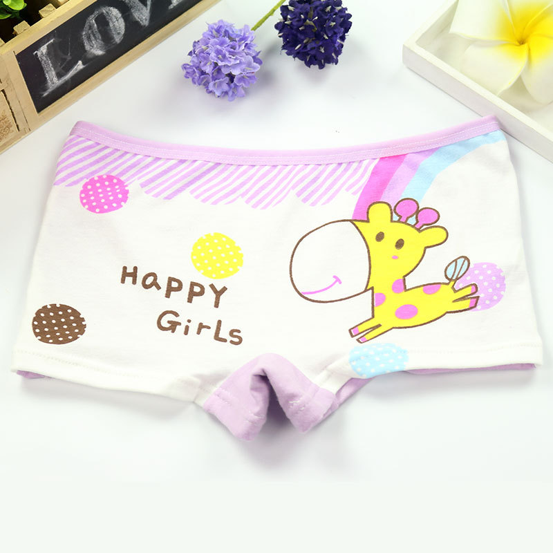 4Pcs/Lot Girls Underwear Children's Cotton Boxers Kids  Shorts Panites  Baby Girl Clothes for 2-10 years 4