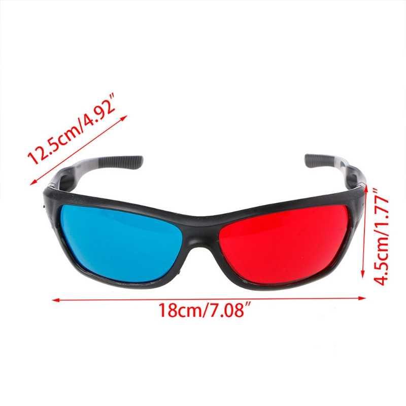 العالمي الأبيض الإطار الأحمر الأزرق النقش 3D نظارات للفيلم لعبة DVD الفيديو التلفزيون