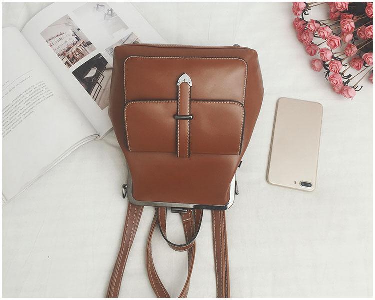 HTB1hXnRnm I8KJjy0Foq6yFnVXaH LEFTSIDE Brand 2018 Retro Hasp Back Pack Bags PU Leather Backpack Women School Bags For Teenagers Girls Luxury Small Backpacks