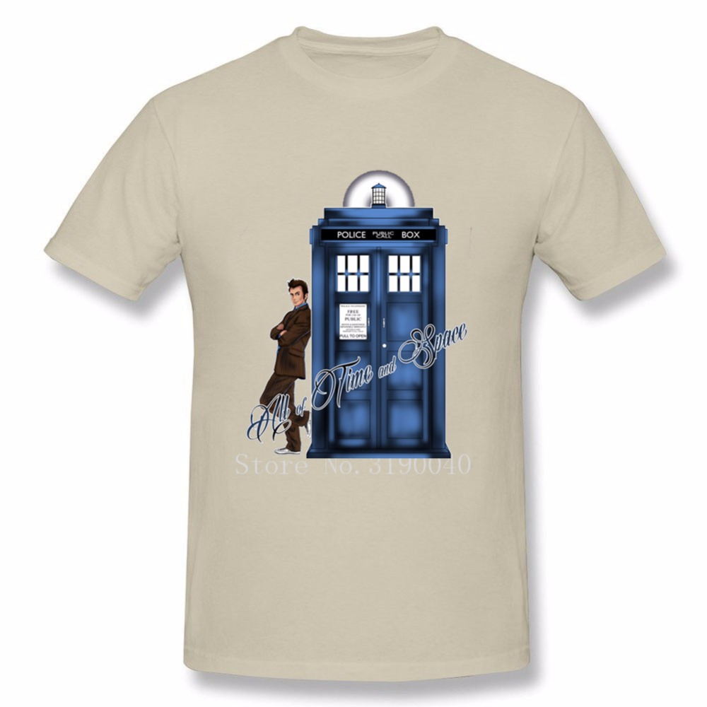 Man All Of Time And Space T-shirt Doctor Who T Shirt Graphic T-shirts Awesome For Mens Cotton T Shirt