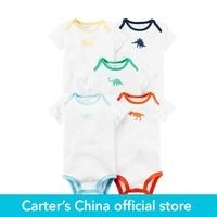 Carter S 5pcs Baby Children Kids 5 Pack Short Sleeve Bodysuits 126G601 Sold By Carter S