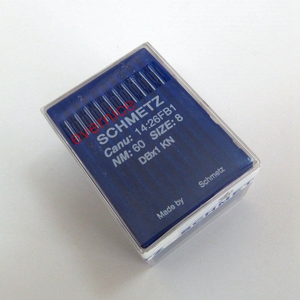 100 Schmetz Dbx1 #60/8 Sewing Machine Needles For Knitted Fabric