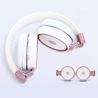 KAPCICE New Arrival Colorful Stereo Audio Mp3 Bluetooth Headset Foldable Wireless Headphones Earphone Support SD Card