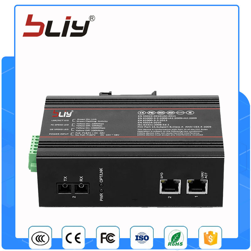 1FX2TX 100M industrial unmanaged switch 3 port ethernet switch with dual fiber  dux adp 509 06 2001 509c industrial motherboard hfpp pic9 dual ethernet port 100