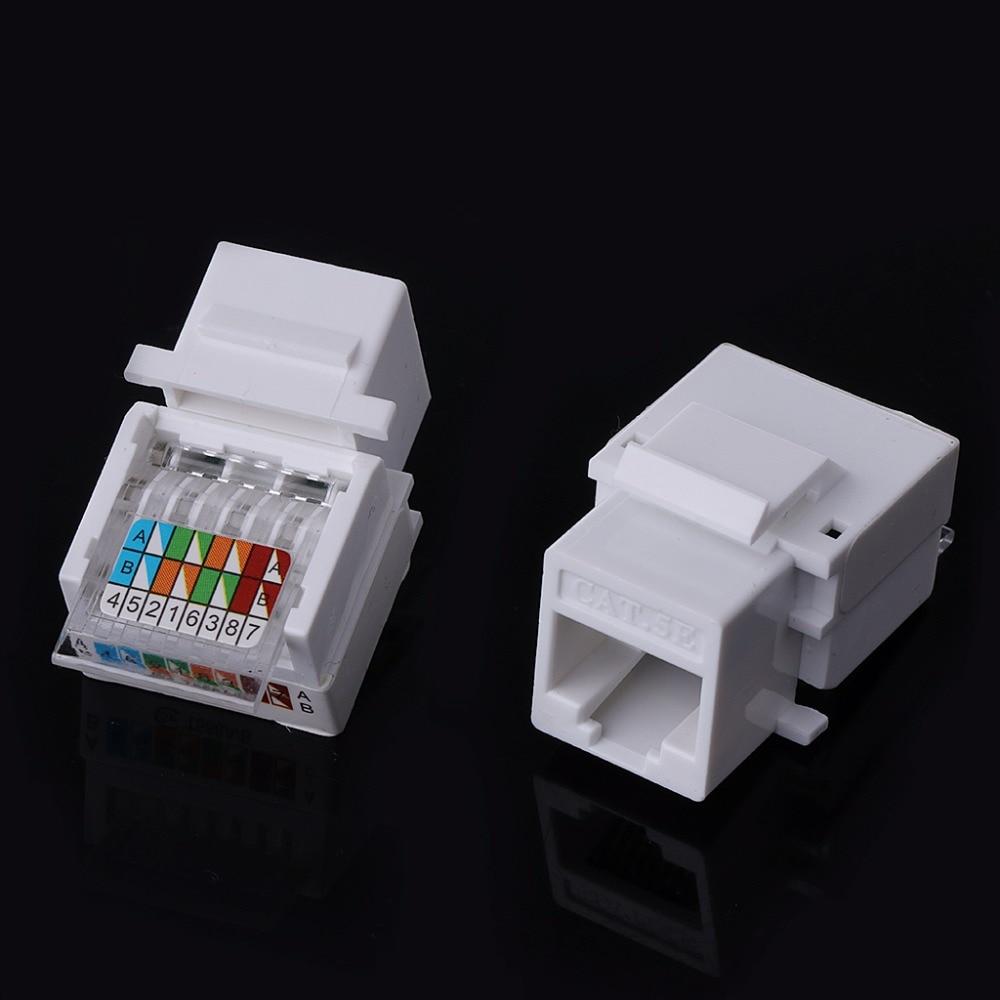 5pcs Lot Utp Rj45 Cat5e Module Tool Free Socket For Network Wiring Double 1aa300225 3