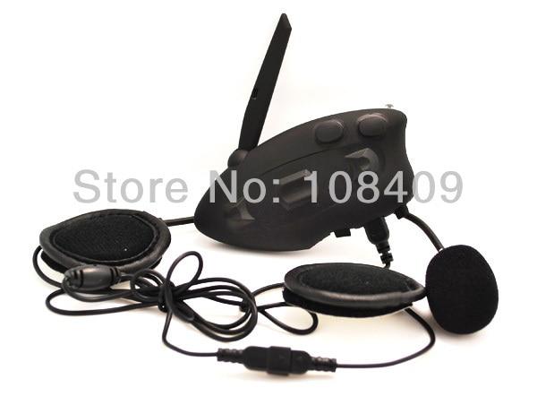 1*500M Full Duplex Motorcycle Intercomunicador Bluetooth Moto BT Helmet Headset Interphone Intercom with FM Radio Free Shipping