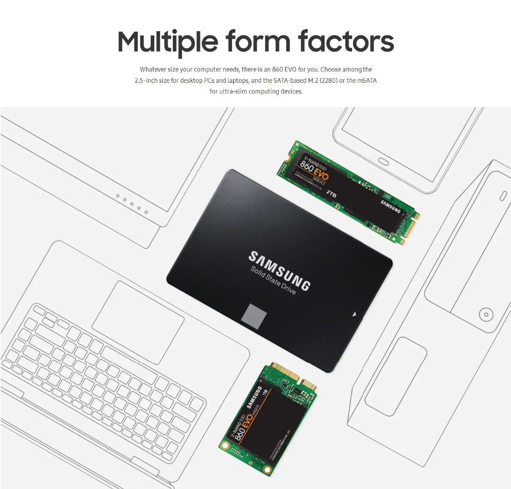 Samsung-SSD hard disk internal external hard drive harddisk 2.5 3.5 m2 msata sata NVMe PCIe USB 120GB 240GB 480GB 500GB 1TB 2TB 4TB hdd for computer Desktop tablet kingdian (5)