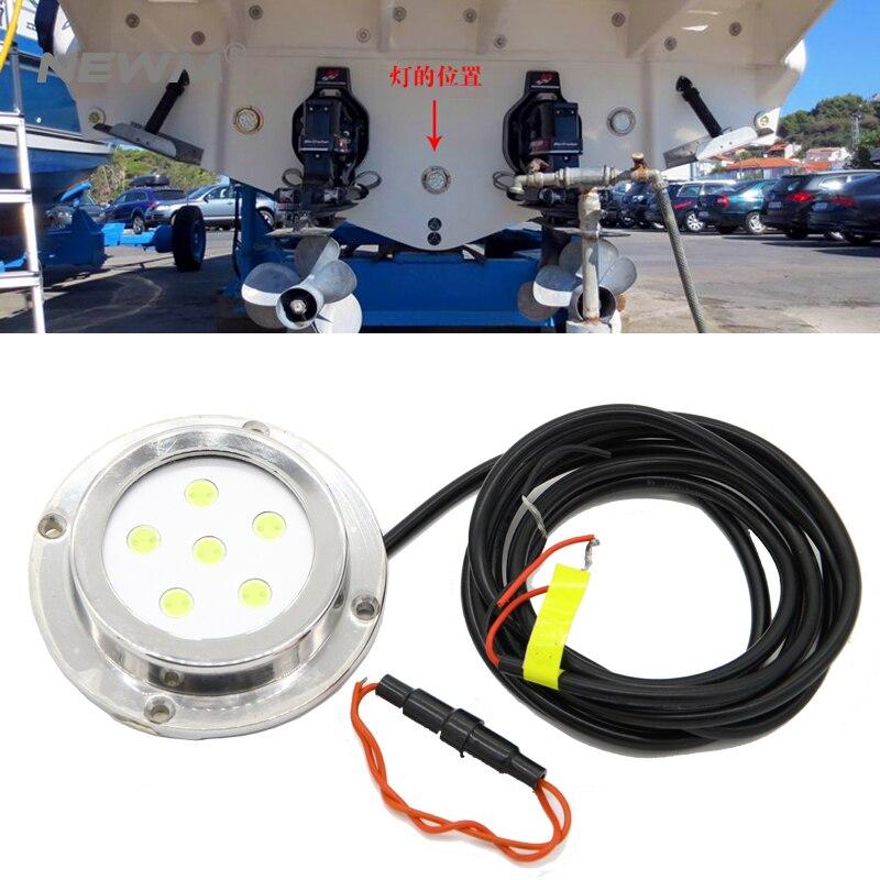 12-28 В 6 Вт 316 нержавеющая сталь Лодка свет морской подводные светодиодные морской воды свет подводная лодка свет