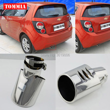 цена на tommia High Quality T304 Stainless Steel Exhaust Muffler Tip For Chevrolet Aveo 2011-2014