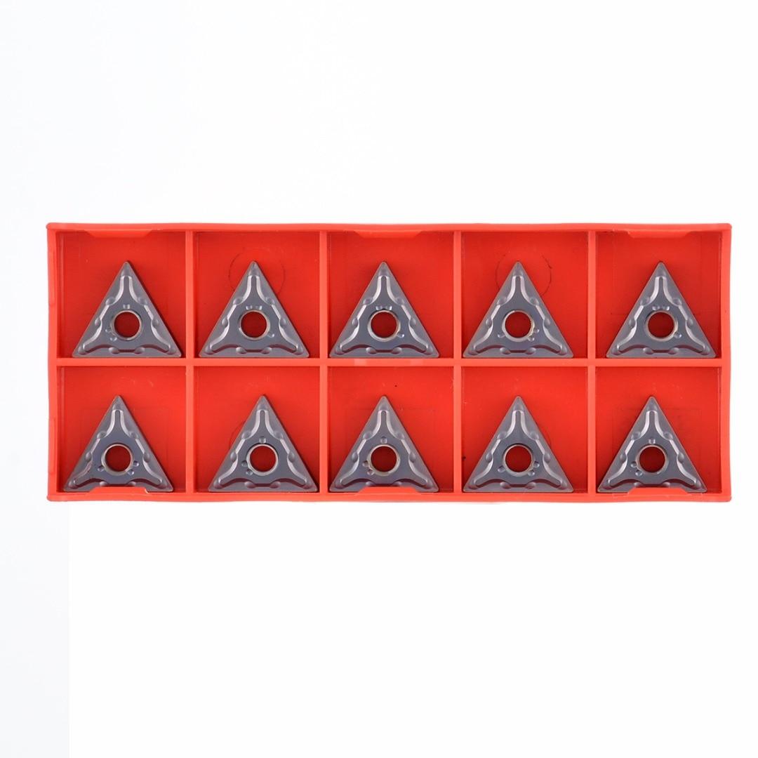 Boring Bar Turning Tool Holder 10pcs TNMG160408-HS LF6018 Carbide Inserts Set