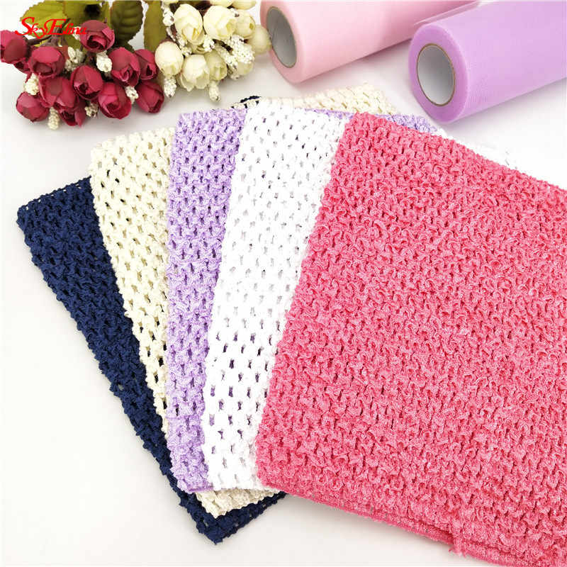 15*15cm Tulle Spool Tutu Crochet Chest Wrap Tube Tops Apparel Knit Fabric Girl Birthday Gifts Headbands Skirt 5zSH940
