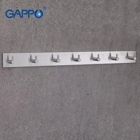 GAPPO Robe Hooks 7 clothes hook stainless steel Hooks Wall mount Coat Hat hanger Bathroom Towel Hanger