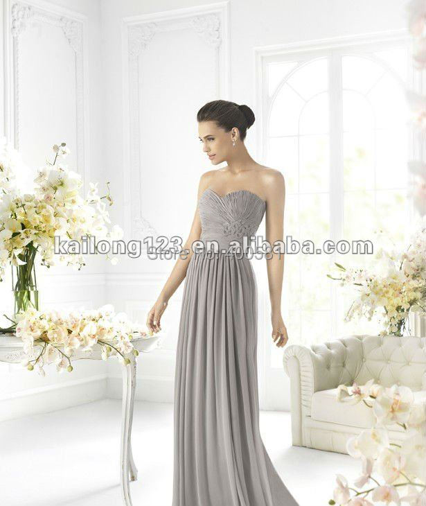 Aliexpress Com Buy Strapless Ruched Bodice Empire Waist: Vintage Sweetheart A Line Empire Beaded Waist Floor Length