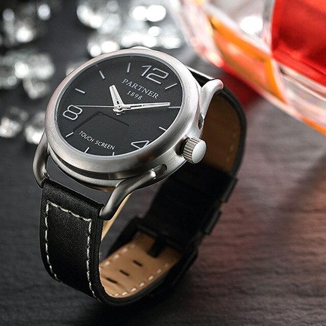 Yeni Klasik Moda akıllı saat 316L Paslanmaz Çelik Kasa Ile 0.49 Inç OLED dokunmatik ekran desteği Uyku Monitör Kalp Hızı Monit