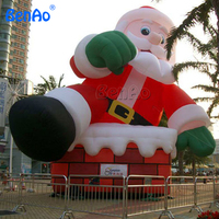 X043 Inflatable Santa Claus 9m Height CE/UL Blower Included DHL FREE Shipping Outdoor Christmas Inflatables Christmas Deco